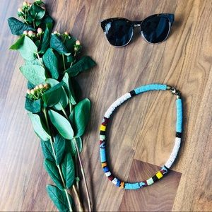ANTHROPOLOGIE: beaded statement necklace